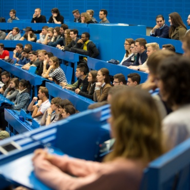 Teaching Students sitting in a lecture hall.